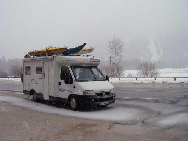 Wintereinbruch bei Cortina d`Ampezzo