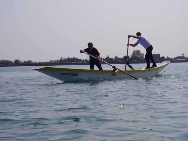 Gondola-Ruderer beim Training