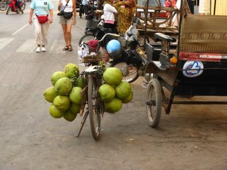 frische Kokosnüsse unterwegs