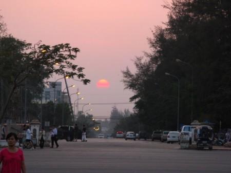 Sonnenuntergang in Vientiane