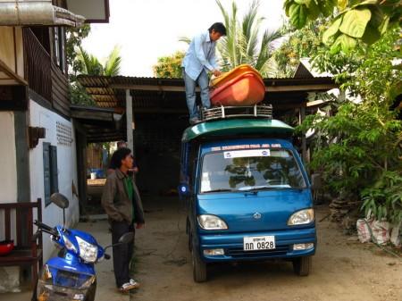 Boots- und Personentransport