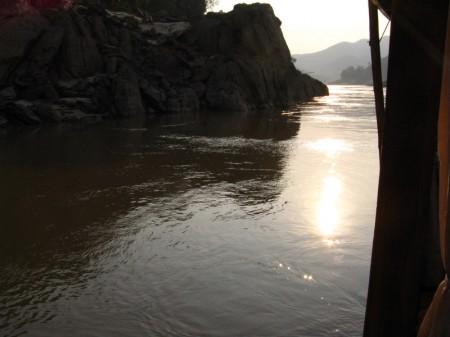 Abendstimmung auf dem Mekong
