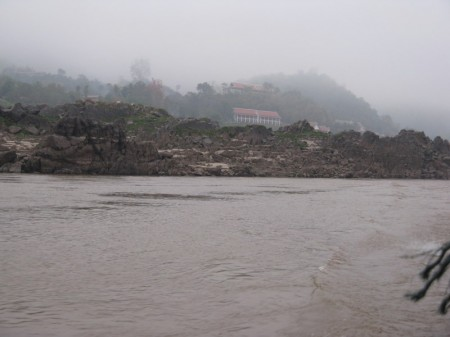 Nebel über dem Mekongtal